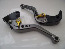 Triumph DAYTONA 675 (06-15), CNC levers short titanium/gold adjusters, F35/T333